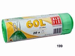 Vrecia 60L do odpadkových košov so zaťahovacou páskou