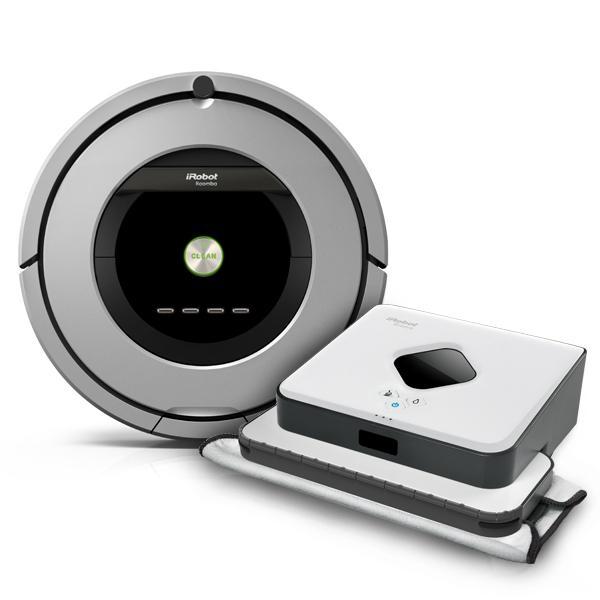 Set iRobot Roomba 886 + Braava 390t