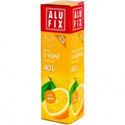 Vrecia 40L do odpadkových košov so zaťahovaním s arómou citróna