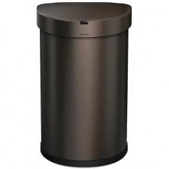 Bezdotykový kôš Simplehuman SEMI-ROUND 45L - dark bronze
