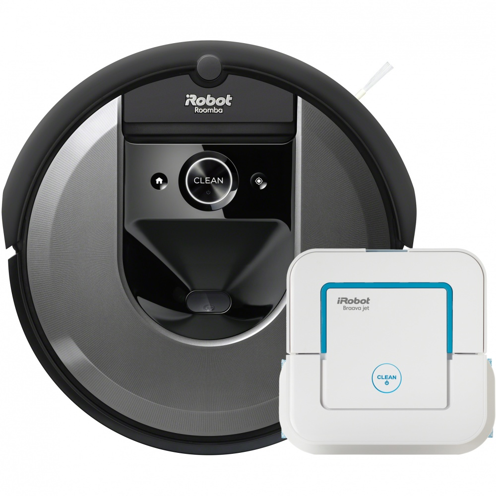 Set iRobot Roomba i7 (7158 grey) + Braava jet 240