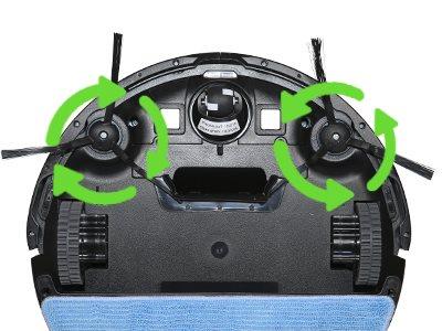 Evolveo RoboTrex H6 Dva kefy pre efektívne upratovanie