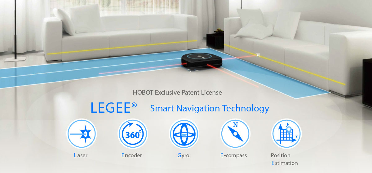 Hobot Legee 688 smart navigation