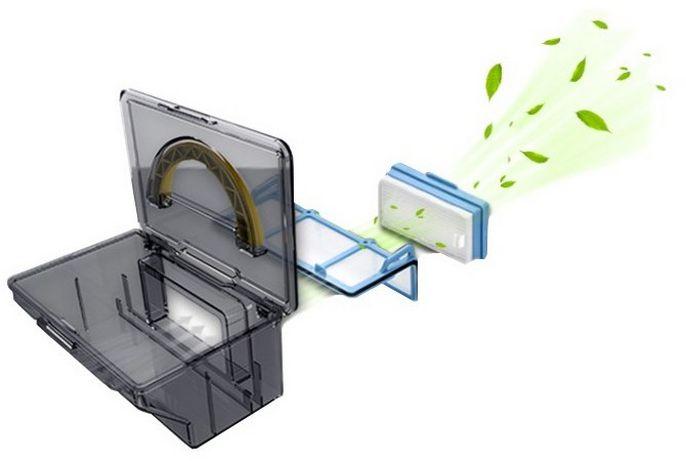 Dvojúrovňová filtrácia Tesla RoboStar T10