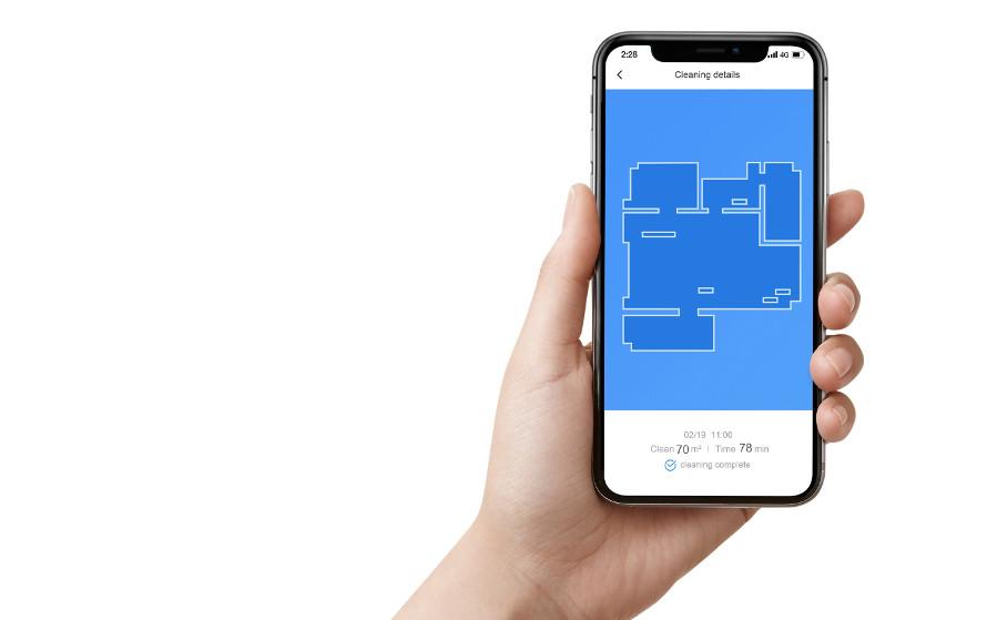 Xiaomi Roborock e4 – mobilná aplikácia